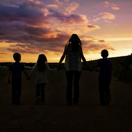 sunset by Connie Schow Anderson - People Family