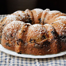 Cherry Pecan Streusel Coffee Cake