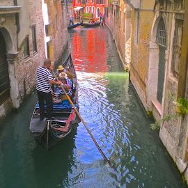 Gondola in Venice by Andrea Riccobene - City,  Street & Park  Street Scenes (  )