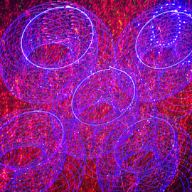 Donuts on the grill ! by Jim Barton - Abstract Patterns ( laser light, colorful, light design, laser design, donuts, laser, laser light show, light, science )