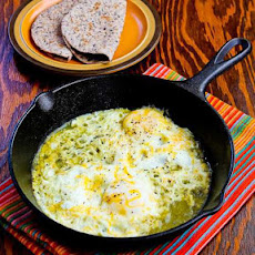 Fifteen Minute Salsa Verde Eggs