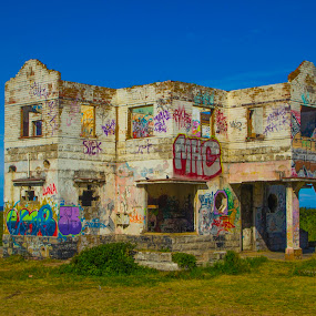 Haunted House 2 by Malcolm Duke - Buildings & Architecture Decaying & Abandoned ( sky, 3d feel, colourful, ocean, house, haunted,  )