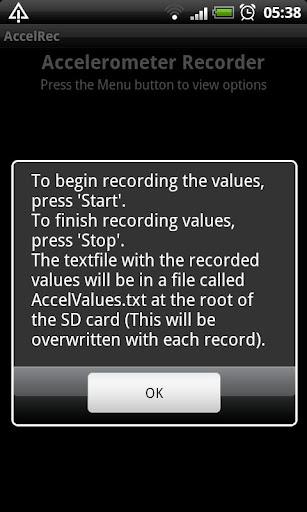 Accelerometer Recorder