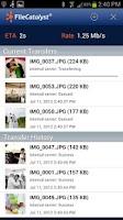 Screenshot of FileCatalyst Upload