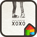 Free Download love you xoxo dodol theme APK for Blackberry