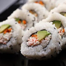 Crab and Avocado Roll - Sushi
