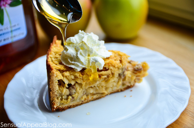 Honey Szarlotka or Polish Apple Pie with Honey, Nuts, and Raisins ...