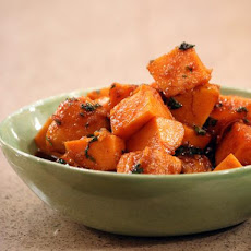 Sweet Potatoes Glazed with Molasses, Pecans and Bourbon