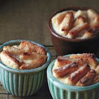 Salted Caramel Banana Bread Puddings