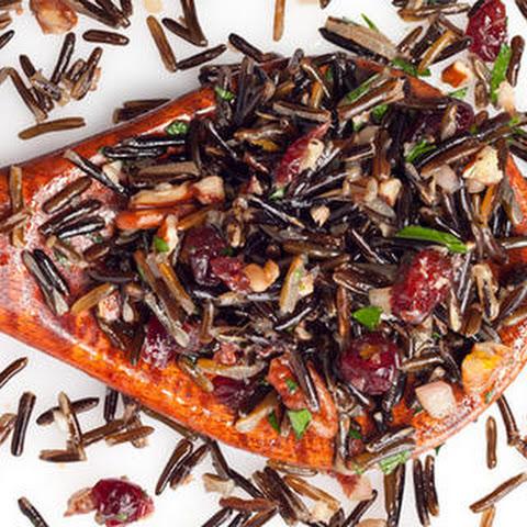 Wild Rice, Pecan, and Cranberry Salad