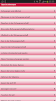 Screenshot of Tipps für Schwangere