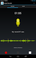 Screenshot of Simple Voice Recorder