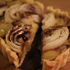 Onion Potato Tart with Balsamic Glaze
