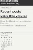 Screenshot of Make Mobile Site