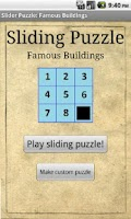 Screenshot of Sliding Puzzle: Buildings