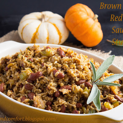 Brown Rice and Red Bean Sausage Stuffing