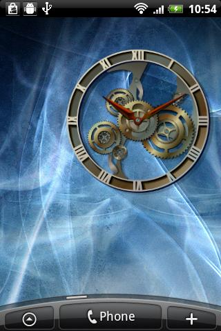 Steampunk Analog Clock Widget