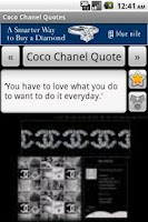 Screenshot of Coco Chanel Quotes