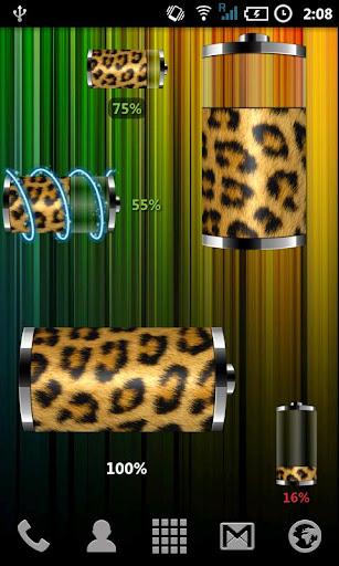 Leopardのスキンバッテリーウィジェット