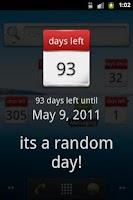 Screenshot of Days Left Widget