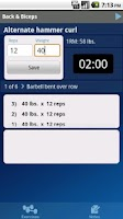 Screenshot of GymBook Lite