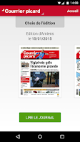 Screenshot of Courrier Picard