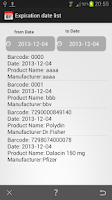 Screenshot of Barcode Expiration Date