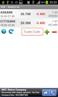 Screenshot of Dhaka Stock Exchange DSE