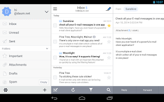 Screenshot of SolMail - All-in-One email app