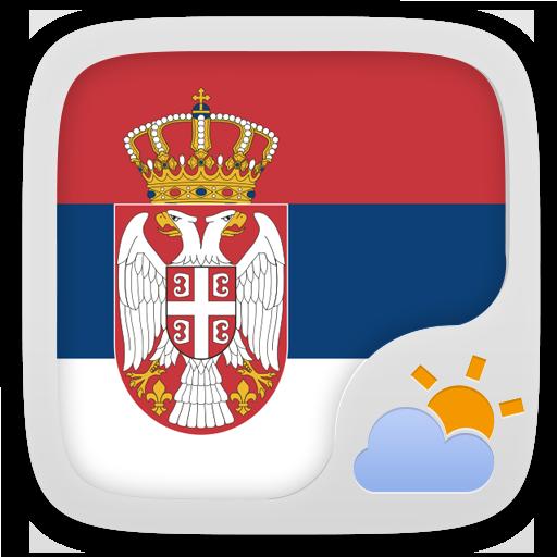 Android aplikacija Serbian Language GO Weather EX na Android Srbija
