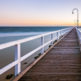 Lagoon Pier by Zubair Aslam - Landscapes Waterscapes ( lagoon pier, port melbourne, melbourne, pier, long exposure, seascape )