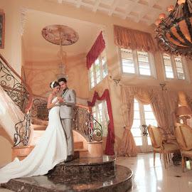 Our Love Here by Amin Basyir Supatra - Wedding Bride & Groom ( love, bali, indoor, prewedding, wedding, couple )