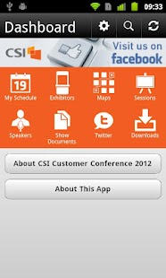 CSI Customer Conference 2012 - screenshot