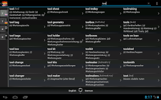 Screenshot of BK Dictionary German English