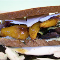 Roasted Vegetarian Sandwich With Brie Cheese (Light)