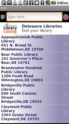 Delaware Library Catalog DLC