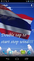 Screenshot of 3D Thailand Flag LWP