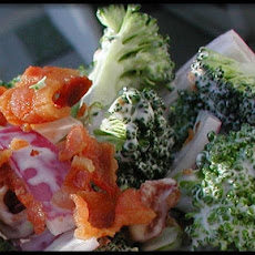 Broccoli Bacon Red Onion Salad