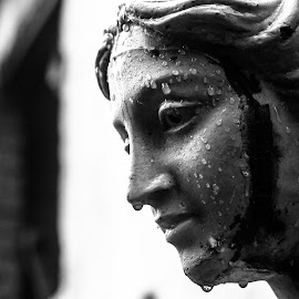 Life by Aniket Mazumder - Buildings & Architecture Statues & Monuments ( sculpture, blackandwhite, statue, westbengal, kumortuli, wet,  )