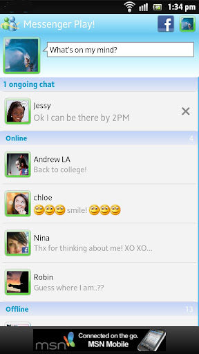 messenger-play for android screenshot