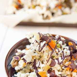 Chocolate & Pistachio Popcorn Trail Mix