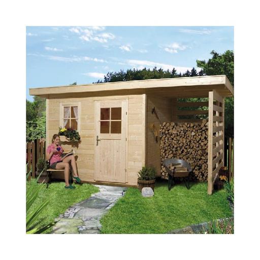 Acheter carport ferm 3 c t s autoclav toit plat for Abri bois ferme
