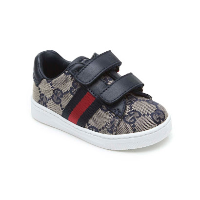 Gucci Navy & Canvas Strap Trainer BOY TRAINER