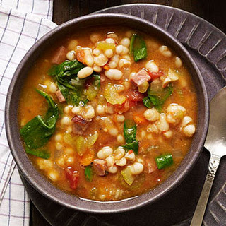 Slow-Cooker Smoky Navy Bean Soup