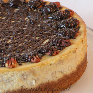 Banana Cheesecake with Pecan Graham Cracker Crust