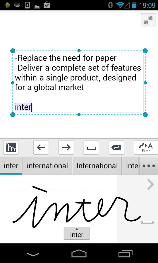 mazec3 Handwriting Recognition Screenshot 0