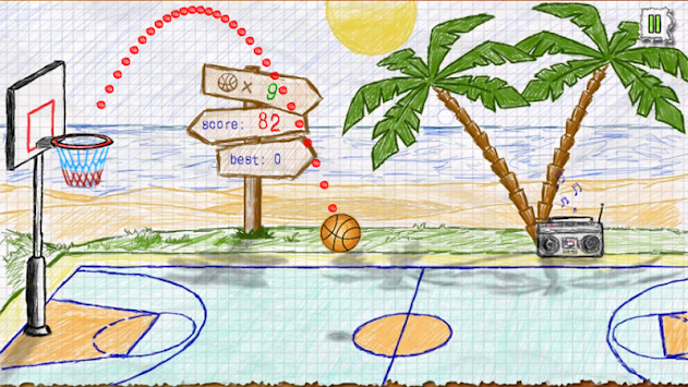 Doodle Basketball APK screenshot thumbnail 4