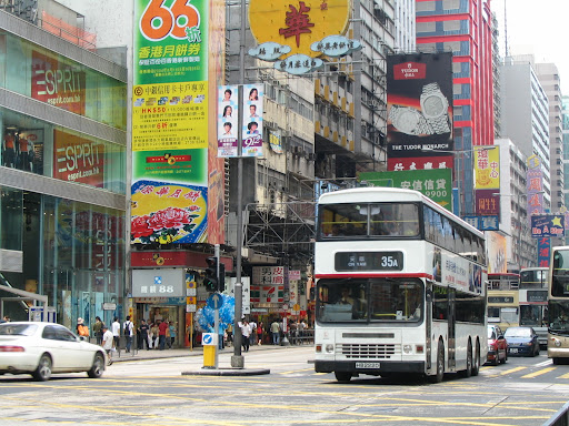 Double decker na Nathan Road