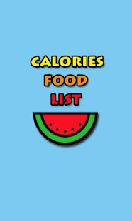 Calories Food List - screenshot