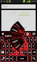Screenshot of Neon Aquarius Keyboard